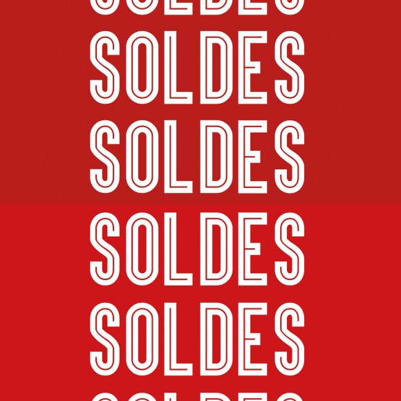 2 affiches  » soldes, soldes …  » pour vitrine magasin