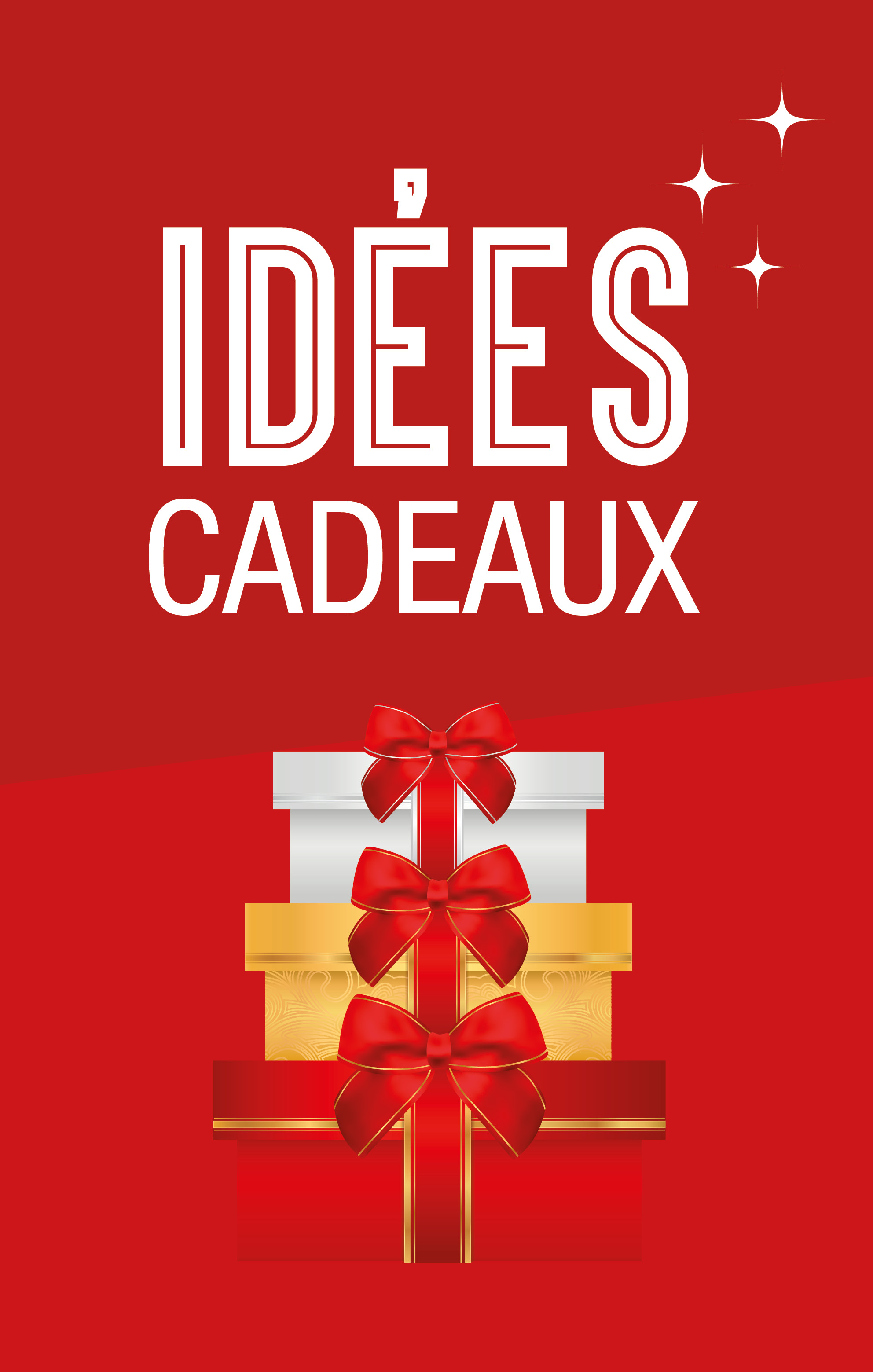 Aff 70 110 idees cadeaux noel 1 ds impression grand for Idee de genie noel
