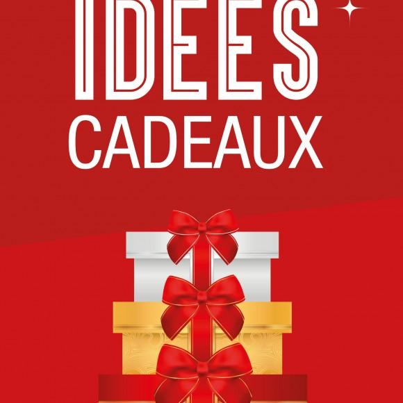2 affiches «Idées Cadeaux»