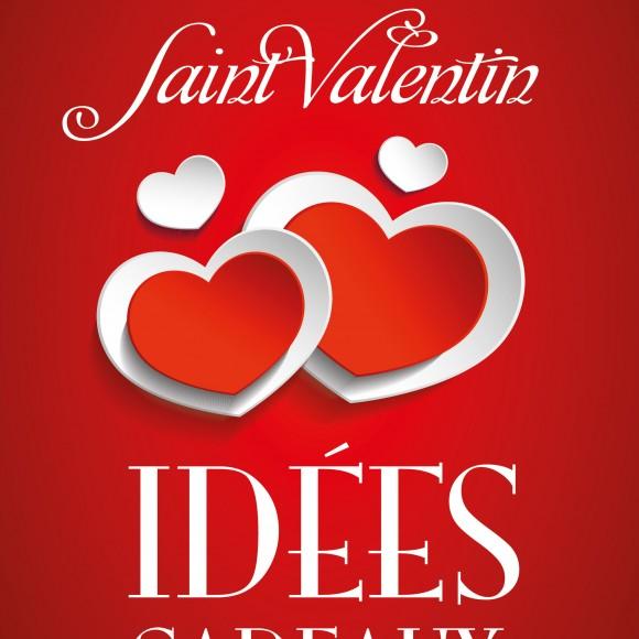 2 Affiches «Idées cadeaux St-Valentin» rouge